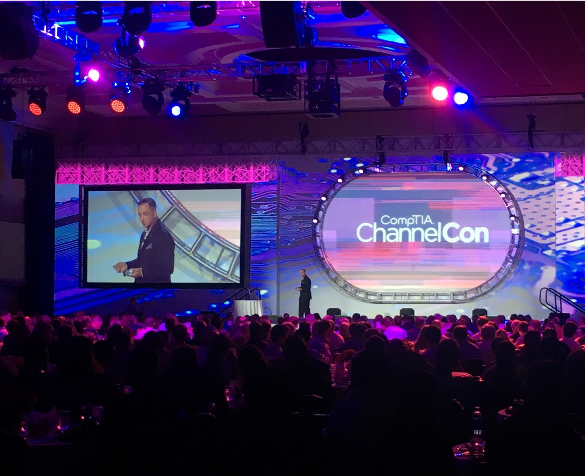 CompTIA Member of the Year Victor Johnson at ChannelCon 2018