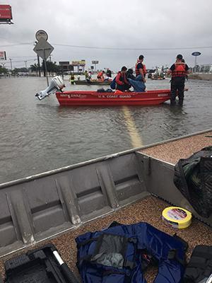 U.S. Coast Guard coordinating operations