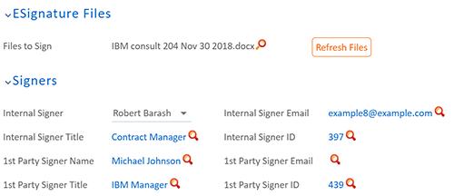 Electronic Signature Integration