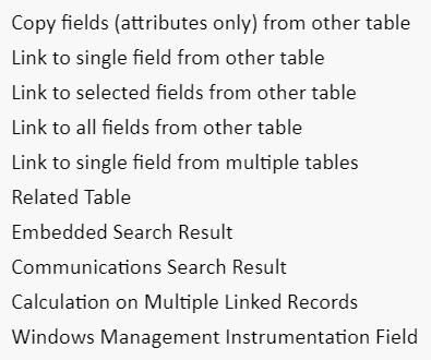 Configurable tables