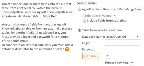Fields from External Database