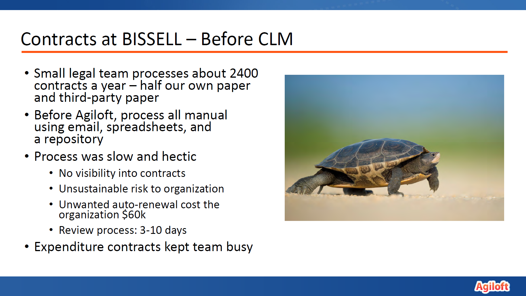 BISSELL Homecare before CLM slide
