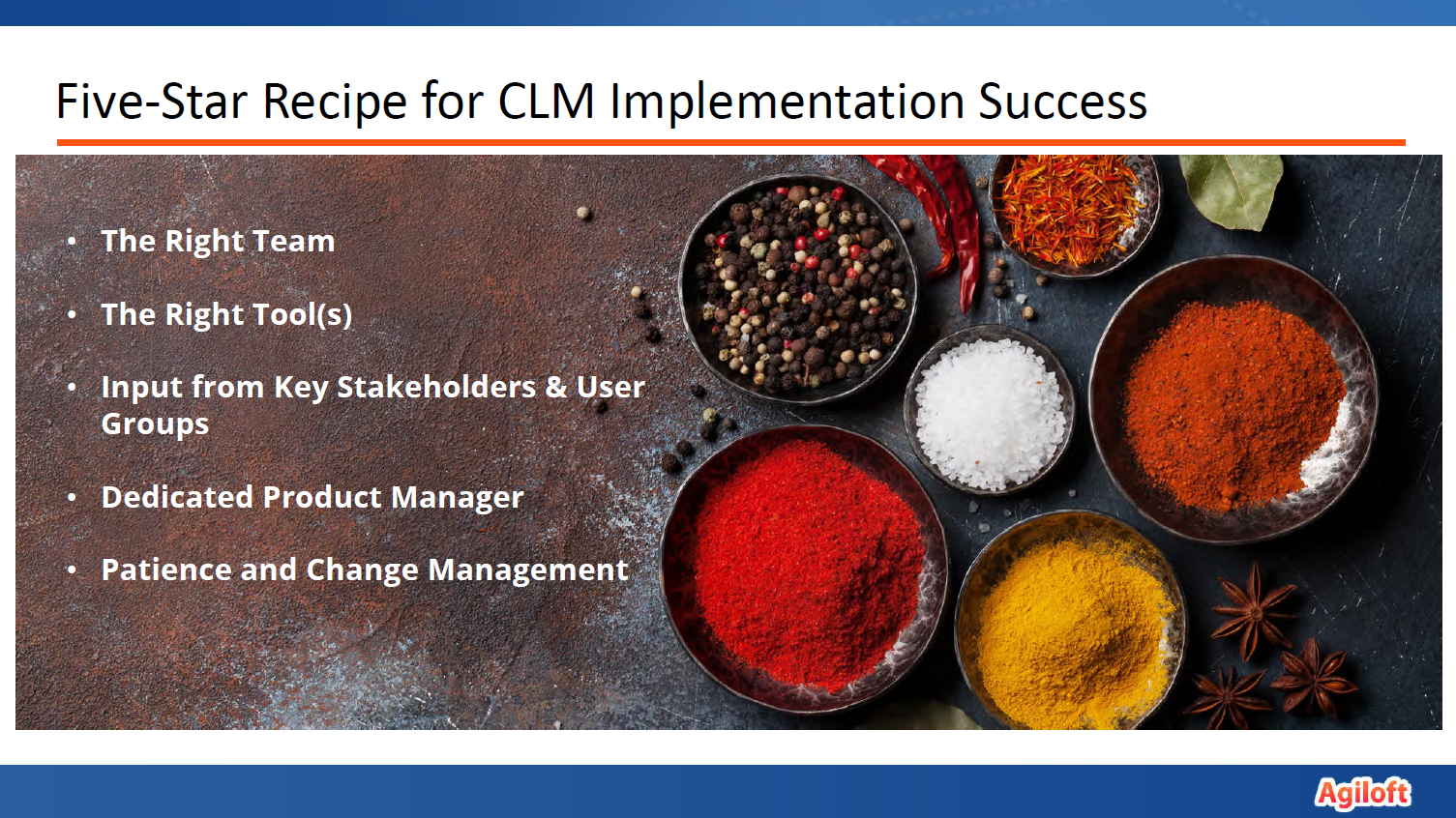 the five-star recipe for CLM implementation success