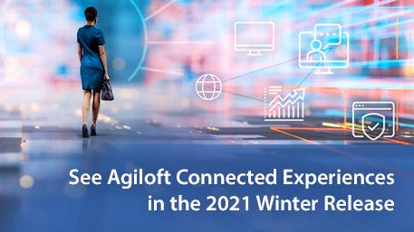 Connected Experiences Agiloft 2021 Winter Release banner